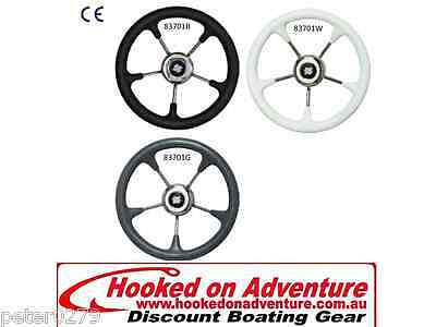 Ultraflex® V52 Non-magnetic S/S Wheel with White Grip 83701W 320mm x 73 mm