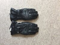 Rukka mens leather and Gore Text motorcycle gloves size 9