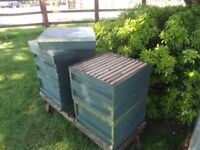 5 x bee hives including 2 x stands