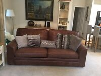 Leather suite 3 Seeter sofa bed 6 months old