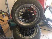 Bmw original bbs alloys wheels with tyres for sale, swap or px? (e39 e46 e60 e36 320d 325i ps4 phone