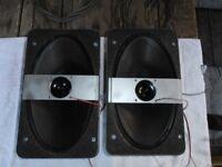 2 X VINTAGE EMI 2 WAY SPEAKERS IN UGLY BOXES SOUND SUPERB.