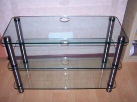 Glass & Crome 3 tier TV Unit