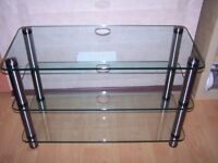 Glass & Crome 3 tier TV Unit