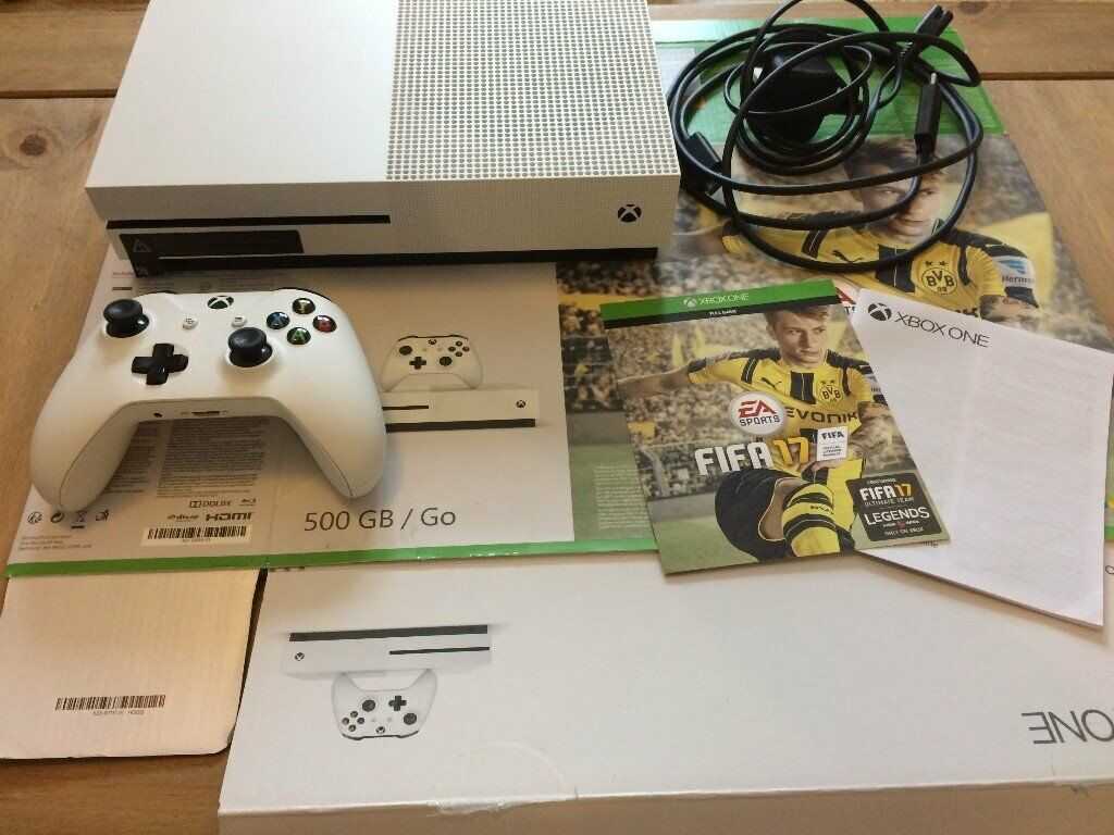 XBOX ONE S CONSOLE (500 GB), 1 CONTROLLER & FIFA 17 GAME - BOUGHT AS GIFT -  NOT USED - LIKE NEW | in Haverfordwest, Pembrokeshire | Gumtree