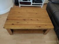 Large Solid Pine Coffee Table 120x80x45 (VGC)