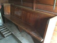 Church pew. 1840 approximately.