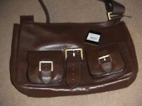 ( New and Genuine ) Mulberry leather messenger bag
