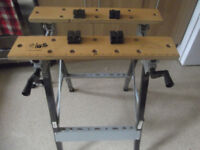 Work bench. Folds flat for easy storage.