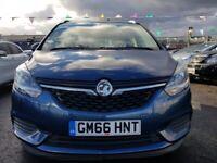 Vauxhall, ZAFIRA, MPV, 2017, Manual, 1364 (cc), 5 doors 7 SEATS