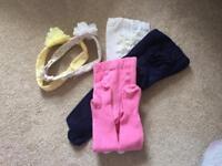Bundle of baby girl's accessories