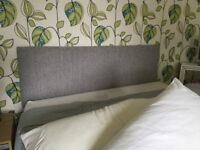 Double divan within mattress and headboard sitting in spare room only used a few times