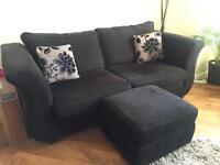 Sofa bed and foot stool