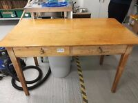 Two School type desks
