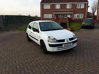 Renault Clio 2001/51 1.2 Petrol White, 73k Low Miles F/S/H New Timing Belt! *Quick Sale*