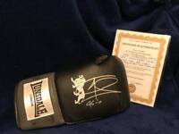 Joe calzaghe hand signed autographed boxing glove