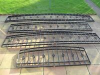 wrought iron wall topper/rails