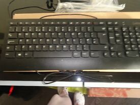 Black Key Board & Mouse wired; New