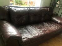 Three seater leather sofa from dfs