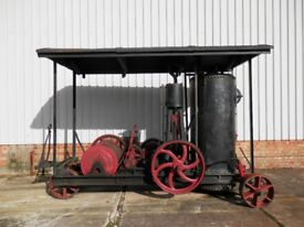 LEWIS & LEWIS OF LONDON ,STEAM WINCH, PORTABLE STEAM ENGINE