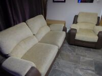 Reclining 2/3 Seater sofa & recliner Armchair - Hardly used - EXTREMELY COMFORTABLE