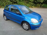 2003 TOYOTA YARIS 1.0 T3 3 DOOR HATCHBACK BLUE 11 MONTHS M.O.T