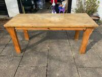 Solid wooden kitchen table