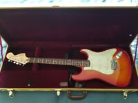 Squier Strat Standard Cherry Sunburst NEW with amp and extras