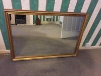 Beautiful chunky gold mirror