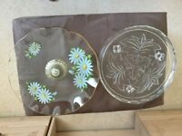 2 Glass cake dishes