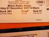 2 Queen and Adam Lambert tickets Metro Arena 1st December