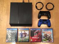 1TB PS4 (PERFECT CONDITION!!!) + 2 Controllers (PERFECT CONDITION - with cables) + 4 Games