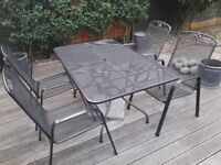 Kettler Garden Suite: Table, 4 single Chairs & 2 Seater