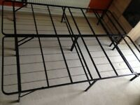 Double Bed Frame Metal With Under Bed Storage Space Bedroom Furniture Folding COST ON EBAY £110