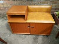 Vintage chippy board telephone seat