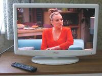 22 inch white tv.