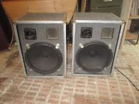 pair of P.A. Loudspeakers