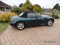 BMW Z3 1.9 2dr convertible, petrol automatic. Mileage 87,312