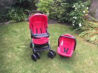 Pushchair with car seat from Mothercare