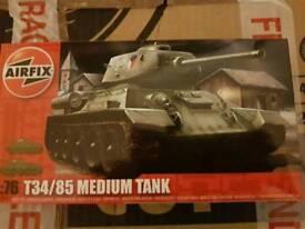 New t34 medium tank model kit