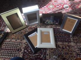 Selection of 8 photo / picture frames