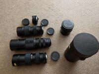 4 x Camera Lenses
