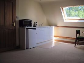Self contained studio accommodation, 3 miles Aberystwyth, own bathroom, suitable one person,