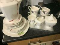 Tea set with extra plates