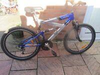 mens mountain bike with lock £40.00