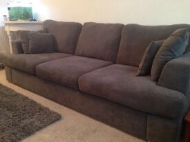 4 seater sofa (DFS) and DFS 2 seater sofa bed.