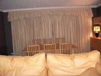 2 pairs of made to measure curtains with pelmets