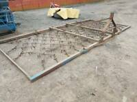 Tractor three point linkage 16ft folding grass harrows