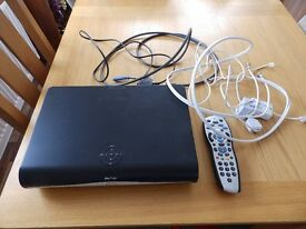 Sky HD Box with remote and new batteries and cables