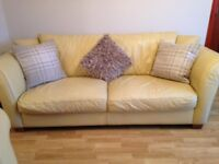 TWO CREAM LEATHER SOFAS || £300 o.n.o. || GREAT CONDITION
